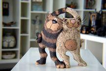 глина, котки и други