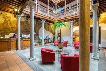 HOTEL PALACIO DE SANTA INES / pinturas del siglo XVI, habitaciones del hotel, desayunos saludables del hotel, vistas del hotel, habitaciones familiares
