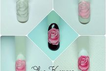 manicure kwiaty