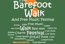 Barefoot Design / A mood board for The Barefoot Walk charity event to produce marketing to engage with different sectors.