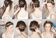 Hairstyles; Ashley's wedding