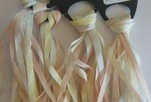 Silk Ribbons / Pure Silk Ribbons Hand Dyed