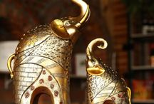 Elephant statue Animal ornaments Home decor lucky living room cabinets decoration wedding gifts~