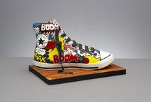 Comic painted shoes