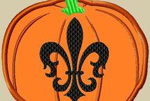 Geaux Saints & Tigers Embroidery / LA love designs I own! / by Tan Scott
