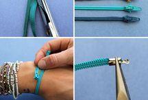 armband maken van een ritssluiting