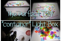 Light Box and Fun Manipulatives / Big kids and Little kids love light boxes. Make your own and watch the potential grow!