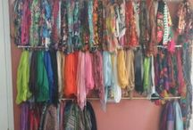 Head wrap storage ideas / From diy to shop bought and custom made ideas. From chaotic to organised to OCD! Ingenious ways to store our beautiful headscarves and pashminas.