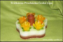 Dorty z vosku / ruční výroba svíček
