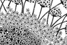 Flowers,gardens- doodles and zentangle