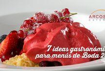 7 ideas gastronómicas menú Bodas / 7 ideas, 7 nuevos conceptos culinarios y 7 grandes sorpresas que seguramente añadirán ese plus de valor a tu boda