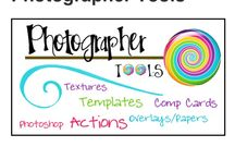 Photographer's Toolkit / Adobe photoshop actions, templates, storyboards, overlays, textures, designer papers & freebies