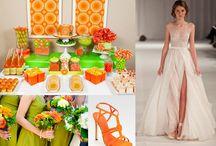 Tangerine and Wasabi Wedding Color Scheme