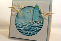 Seaside theme cards