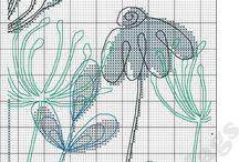 Korsstygn Blommor A 470