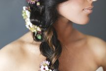 Flowers for the hair / Crowns, headbands, fascinators- all made from fresh flowers.