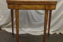 Tables / Antique card tables , tea tables , work tables , tripod tables , side tables