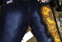 Hand Painted Jeans / Rang Rage's Special Denim Collection for Men as well as Women