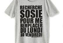 Tee-shirt a message