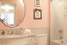 For Brittany / Peach and Grey Bathroom ideas