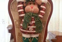 decoración sillas navidad