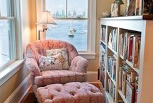 Cozy reading nooks and places