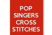 pop singers cross stitches