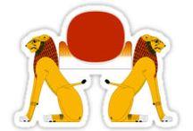 Egyptian Stickers & Shirts