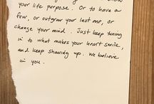 Notes of Inspiration