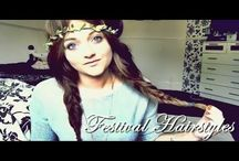 FESTIVAL HAIRSTYLES 2014 / #FestivalHair inspiration and styles.  The ultimate Festival hairstyles that will often battle the elements / by UKHairdressers.com