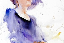 figurative watercolor