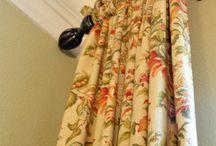 Floral curtains etc.