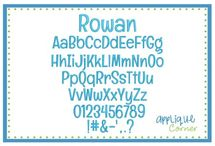 Embroidery Print Fonts
