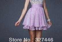 vestido lila