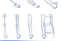 kreslenie ľudských častí tela