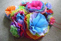 Bloemen van papier / Paper flowers