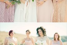 Bridesmaids / Bridesmaids color dresses nude - light coral, anything you like.