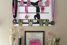 Medals Displays / Great wall art to display sports medals by www.diditmedalsdisplay.com / by I Love my Kids' Art