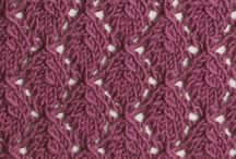 Lacy Stitches / These stitches are featured in the Lacy Stitches category in both the Master and the Gold versions of the Pick-A-Stitch Digital Knitting Stitch Collections. / by Pick-A-Stitch on Pinterest