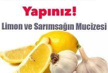 Damar tıkanıklıgına limon sarmısak