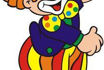 клоун детям / добрый весёлый смешной забавный красивый родной