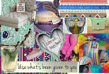 Pinboard - Scrapbooking  / Inspirational Art. A combination between pins and scrapbooking