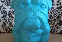 Figuras decorativas / Figuras decorativas yeso-ceramica pintadas a mano