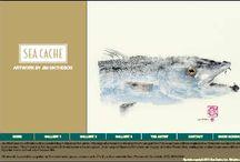 """Art - Gyotaku - Fish Prints / The amazing process of Japanese Gyotaku """"GEE - OH - TAH - KOO"""" - fish prints."""
