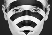 black and white  make up