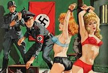 Pulp Fiction - World War 2 / A sub-genre of Pulp Fiction - girls in World War 2 were often beautiful, young and in a state of undress.