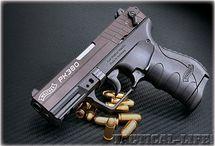 Guns: shotguns and pistols and rifles
