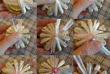 Modele flori facute din diverse materiale / tehnica Ganutell, dar si altele