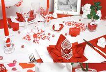 table deco St Valentin