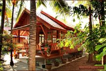 wooden tropical architecture